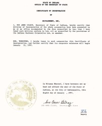 Certificate of Incorporation 300dpi scan whitened JPEG Medium FOR WEB