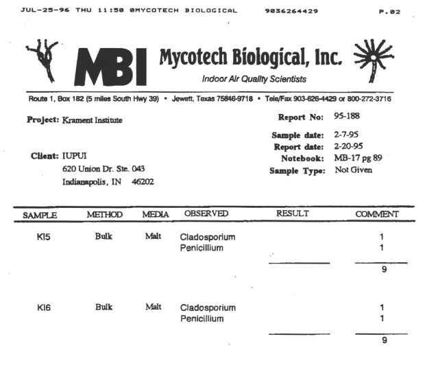 Mycotech report